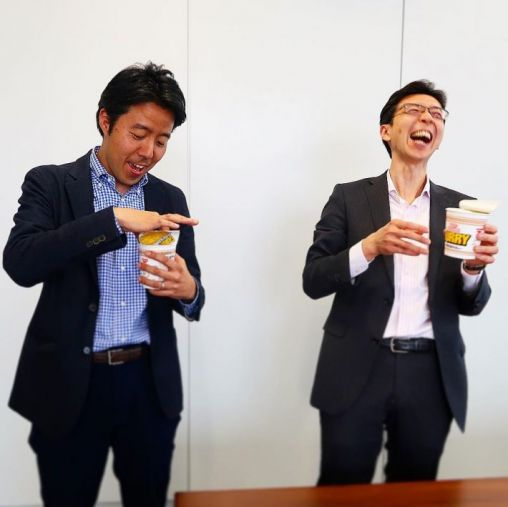 日清食品・白澤勉さん/ロッテ・安藤崇平さん 雪見カレーヌードルに驚き!