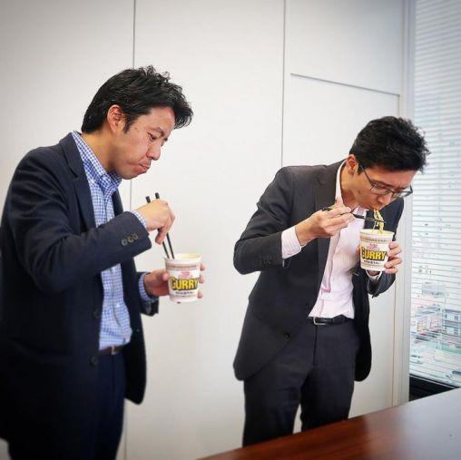 日清食品・白澤勉さん/ロッテ・安藤崇平さん 実食