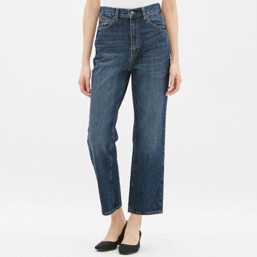 ハイウエストストレートジーンズ(¥2,490+税)(画像:GU公式サイトより)