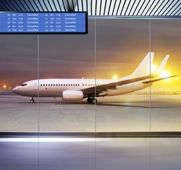 空港飛行機旅行