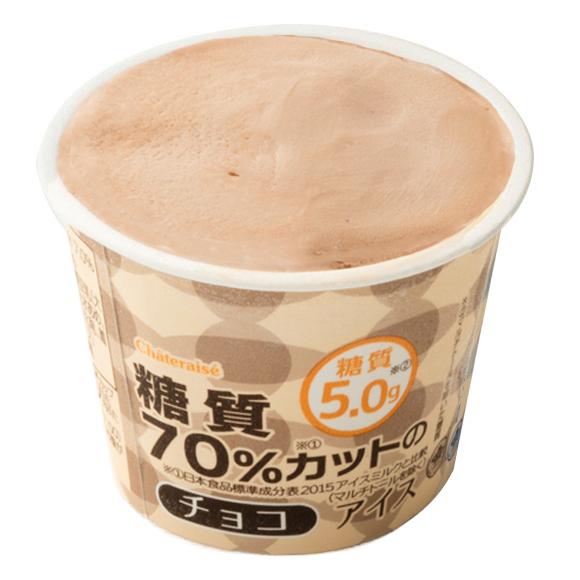 糖質70%カットのアイス チョコ