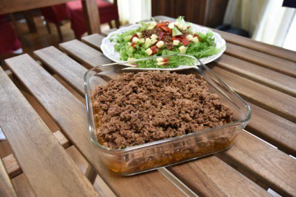 タコライスサラダ+挽肉