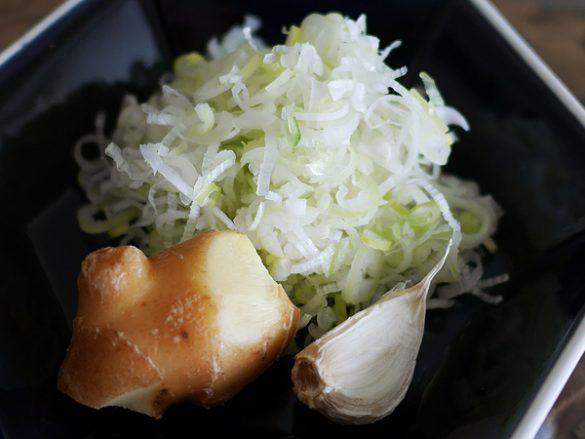 麻婆豆腐①薬味はなるべくホンモノなものを使う