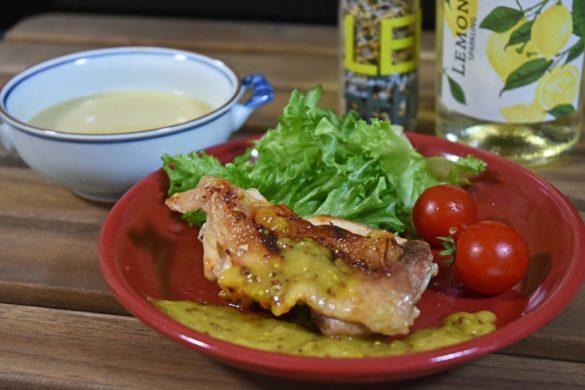 チキン+レモン&粒マスタードソース