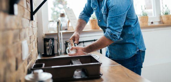 食器洗い 夫