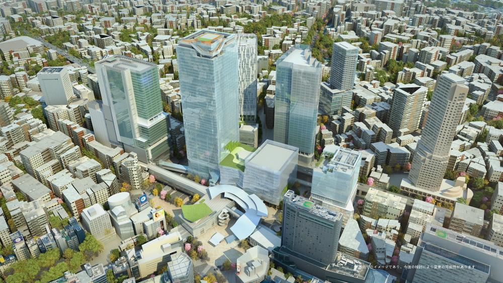 2027年度頃の渋谷駅周辺のイメージ (上空よりのぞむ)