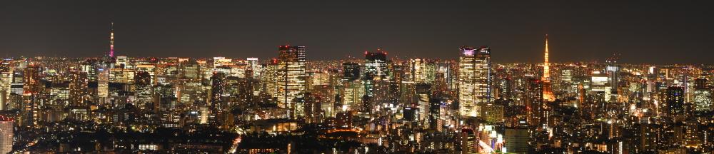 渋谷スクランブルスクエア第I期(東棟)SHIBUYA SKY 屋上展望空間「SKY STAGE」からの眺望(夜)