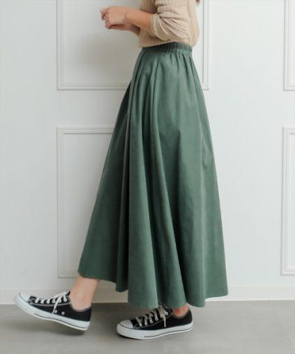 clear「ピーチフレアロングスカート」