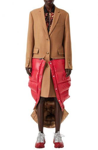 バーバリー「2-in-1 Camel Hair Coat with Reversible Puffer Vest」(画像:Nordstromオンラインストアより)