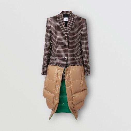 タータンウール テーラードジャケット・ウィズ・デタッチャブルジレ(画像:バーバリーオンラインストアより)