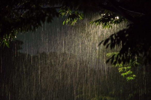 大雨、台風、夜、公演