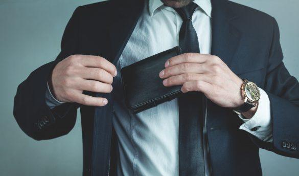 ドケチ夫、男性、財布