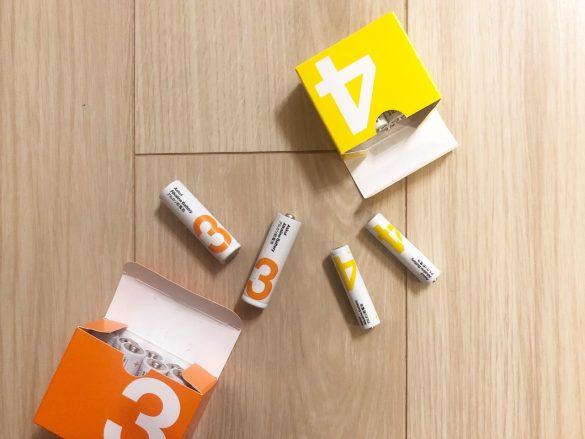 アスクル「アルカリ乾電池」単3形10本入り、単4形10本入り ともに261円