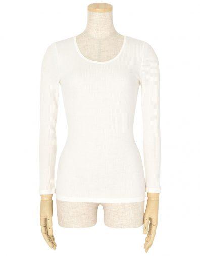 ウンナナクール「綿100% コットンリブ 長袖シャツ」¥1800