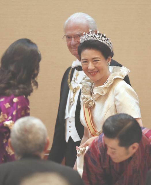 「饗宴の儀」に出席する雅子様 2019年10月22日(代表撮影)