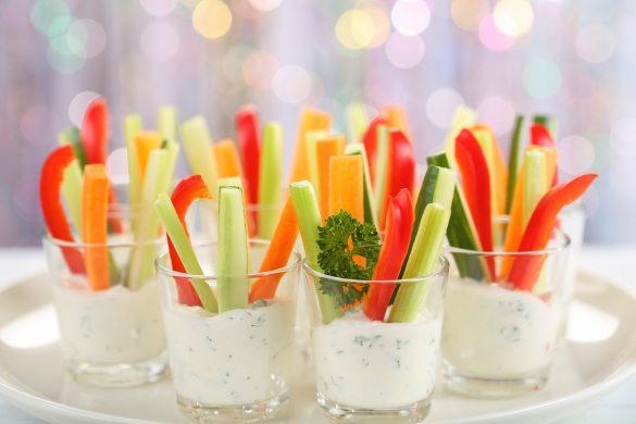 1 野菜スティックを先に食べる