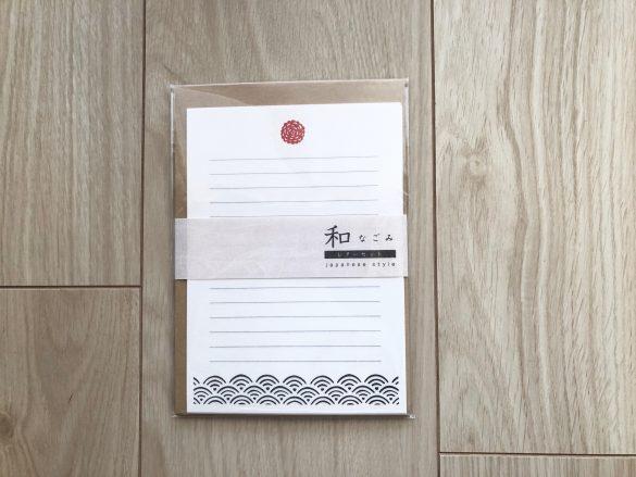 会社で使えるセリアグッズが可愛くて優秀 「なごみ レターセット」100円