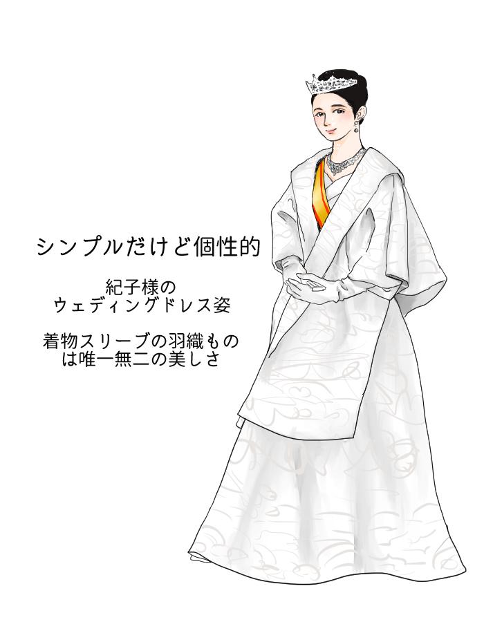 個性と上品さのあるウェディングドレス