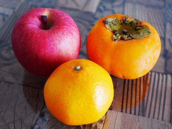 みかん、柿、りんご。 美容・ダイエットに良いのはどれ?