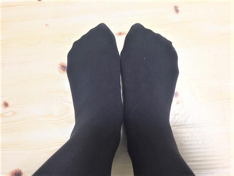 5本指ソックス×タイツの重ね履きが最強。蒸れずに温ったか~