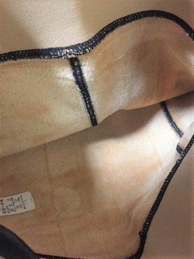 裏地/20デニールの黒タイツを履いてる風に見える1200デニールの裏起毛タイツ