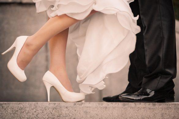 結婚式 花嫁花婿 靴