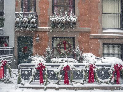 雪のクリスマス、アメリカ、ニューヨーク