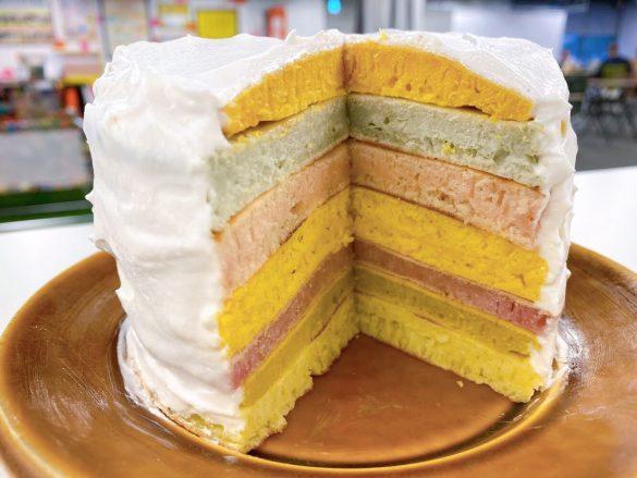 レインボーパンケーキ完成