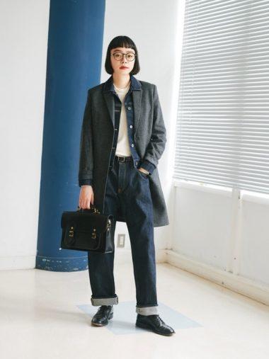 レイヤードスタイル(重ね着)③デニムジャケットは、シャツ感覚で着る・重ねる