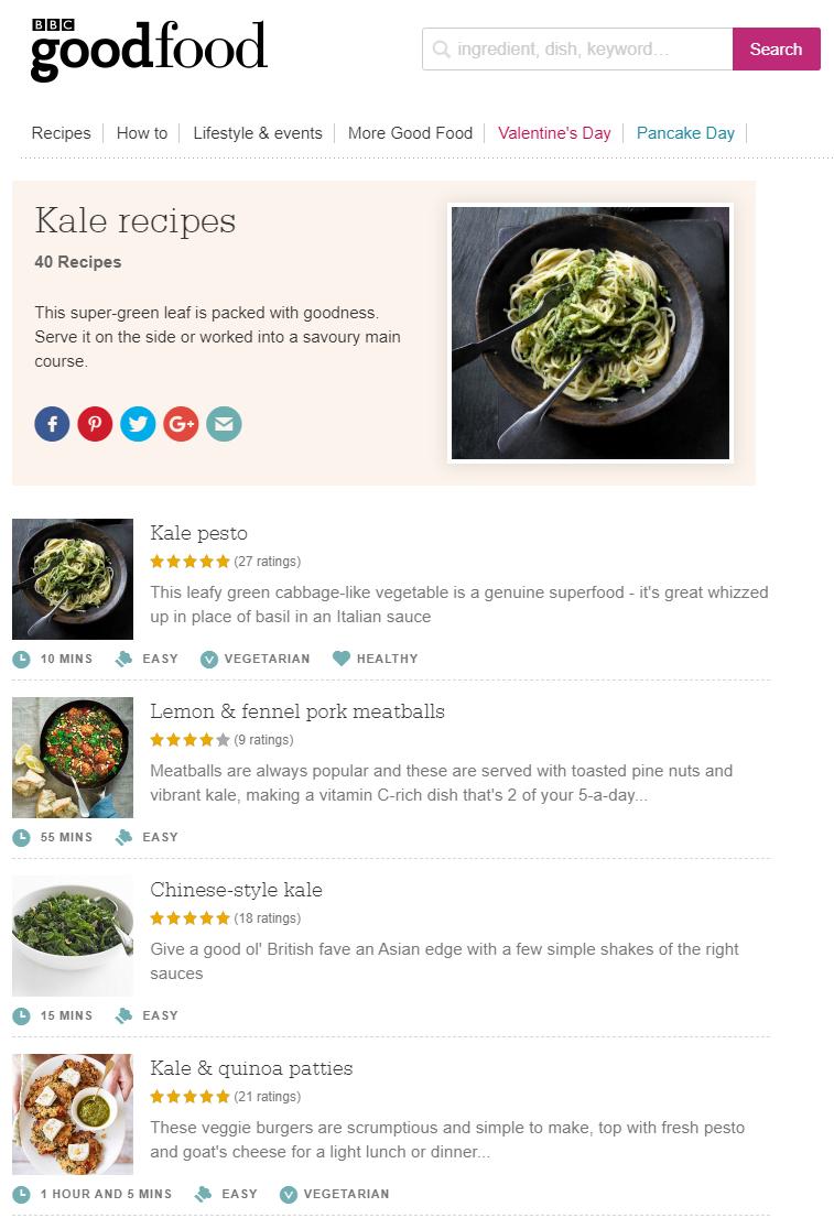 イギリスのサイト「BBC good food」