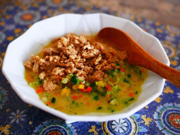 クスクス風 豆乳カレースープ