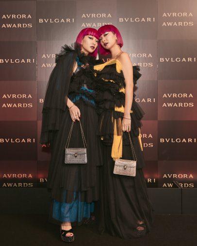 「ブルガリ アウローラ アワード2019」のゲストとして招待された際のAMIAYA