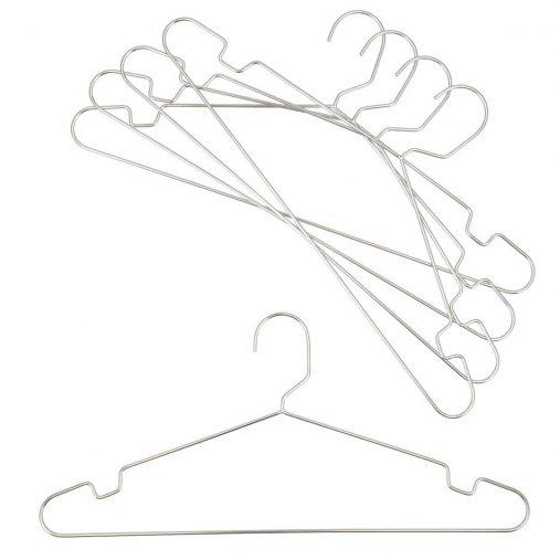 「オールステンレスシャツハンガー ラプラタ(5本組)」370円