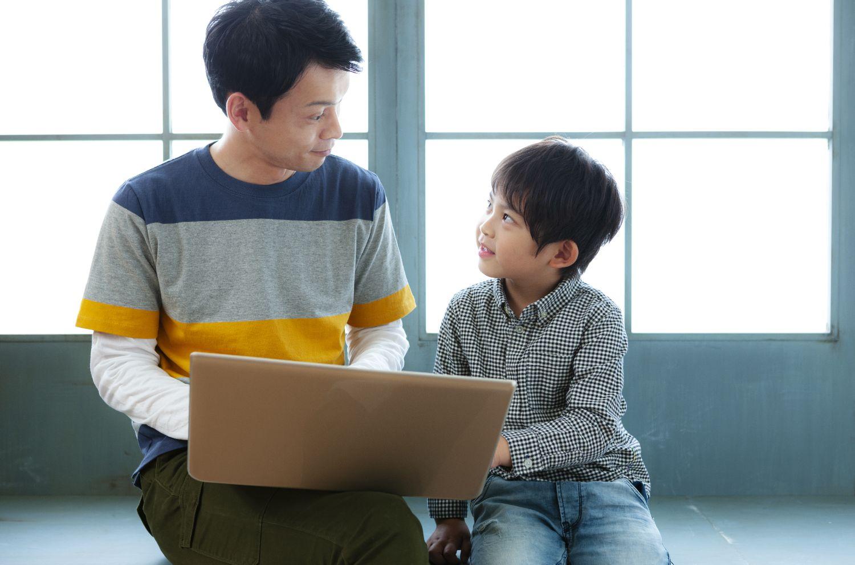 父と子供、教育パパ