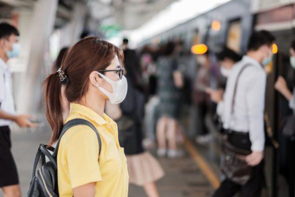 新型コロナウイルス、マスク、風邪、インフルエンザ、通勤