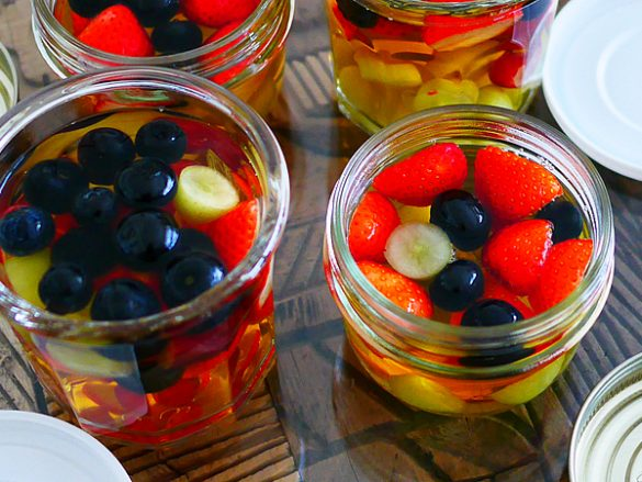 懐かしの果物ゼリー