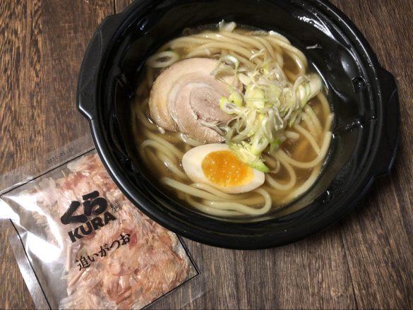 「7種の魚介 追いかつお醤油らーめん」(税抜390円)