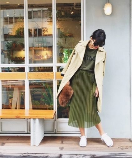 TODAYFUL「シアーレーススカート」¥7,700(税込み)