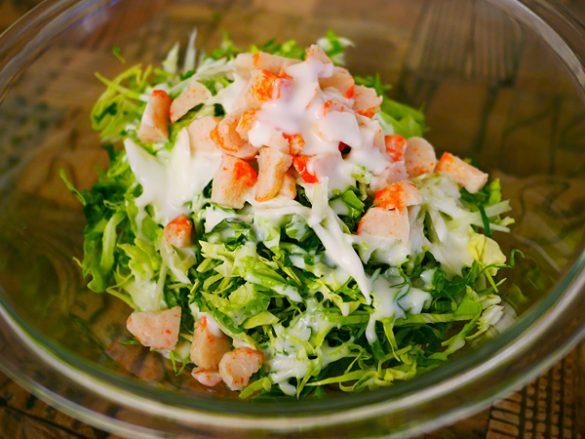 カニカマ キャベツ サラダ