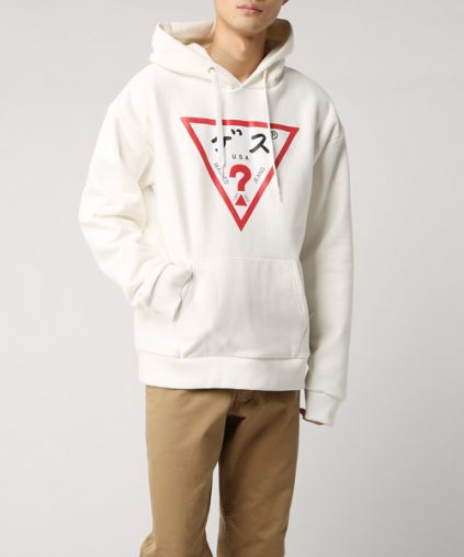 GUESS KATAKANA TRIANGLE SWEAT HOODY(Guess)