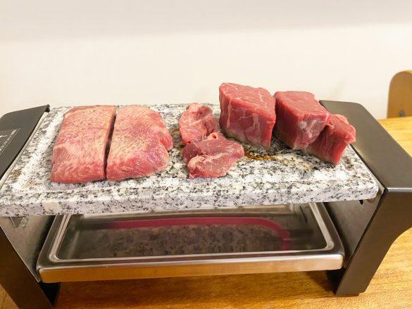 10分予熱してから肉を乗せる