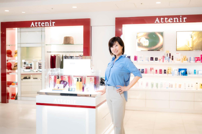 アテニア斎藤智子社長 初のトータルビューティショップ「アテニア ファンケル 銀座スクエア店」でお話を聞きました