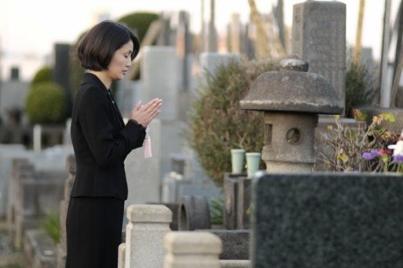お墓参り、墓地
