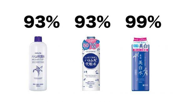ふぉーちゅん「ハトムギ化粧水」比較