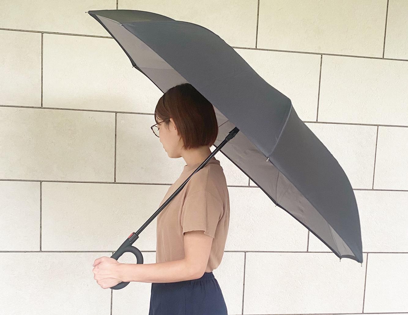 傘はワンタッチで簡単に開くことができます