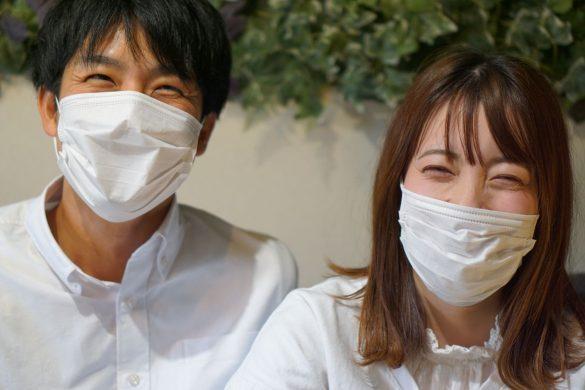 コロナ禍マスクカップル風邪男女