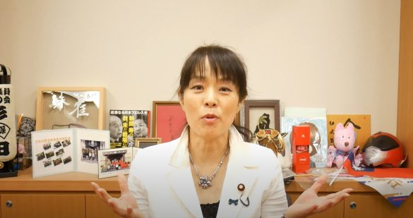 (画像:You Tube動画「【公式】杉田水脈です」より)