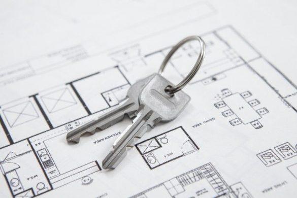 引っ越し、売り家、鍵、不動産、見取り図