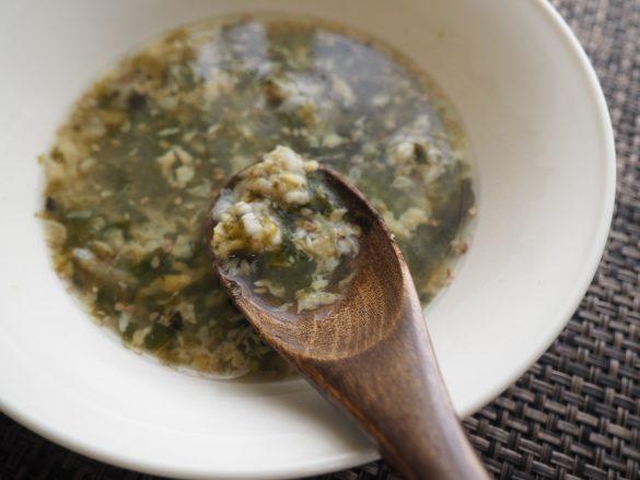 キノコをたしても◎「しらすと海苔の卵雑炊」2