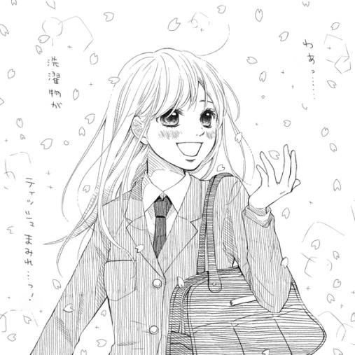 少女漫画っぽく愚痴るイラスト3